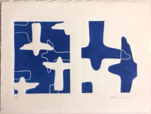 Linogravure Rio Bleu