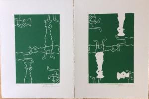 Linogravure Verte