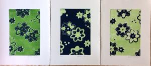 Linogravure colorée Wax